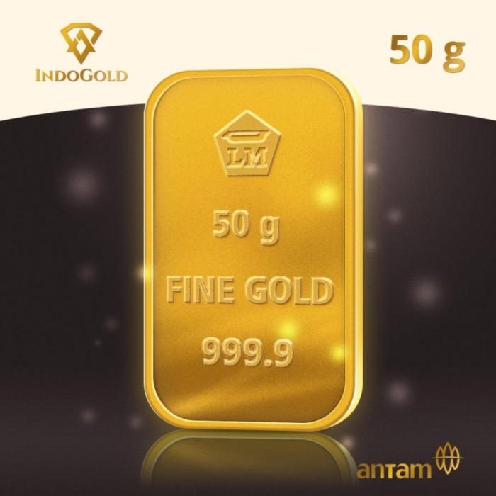 Jual Logam Mulia Antam 50 Gram Emas Batanganlm Antam Asli Gold