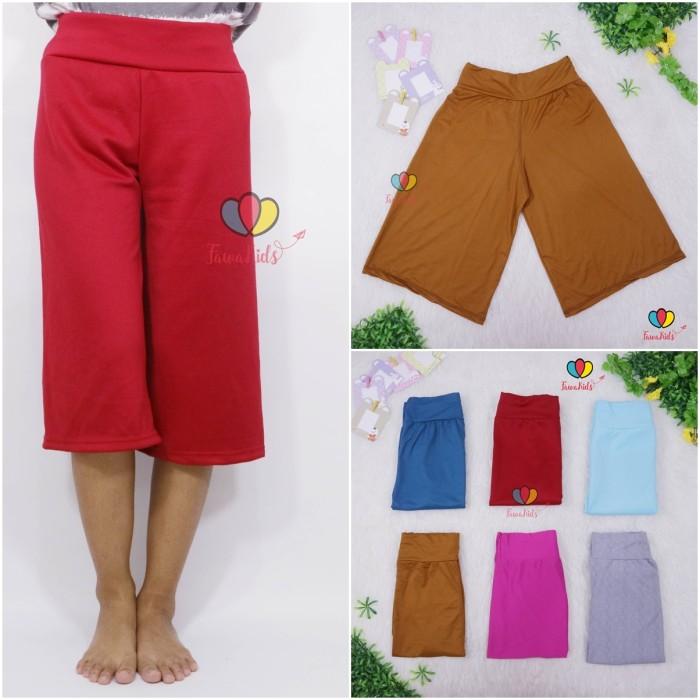 Foto Produk Kulot Polos fit to M / Kulot Panjang 7per8 Cullotes Pants Celana Polos - KOMBI PEACH dari ZR-Vedia