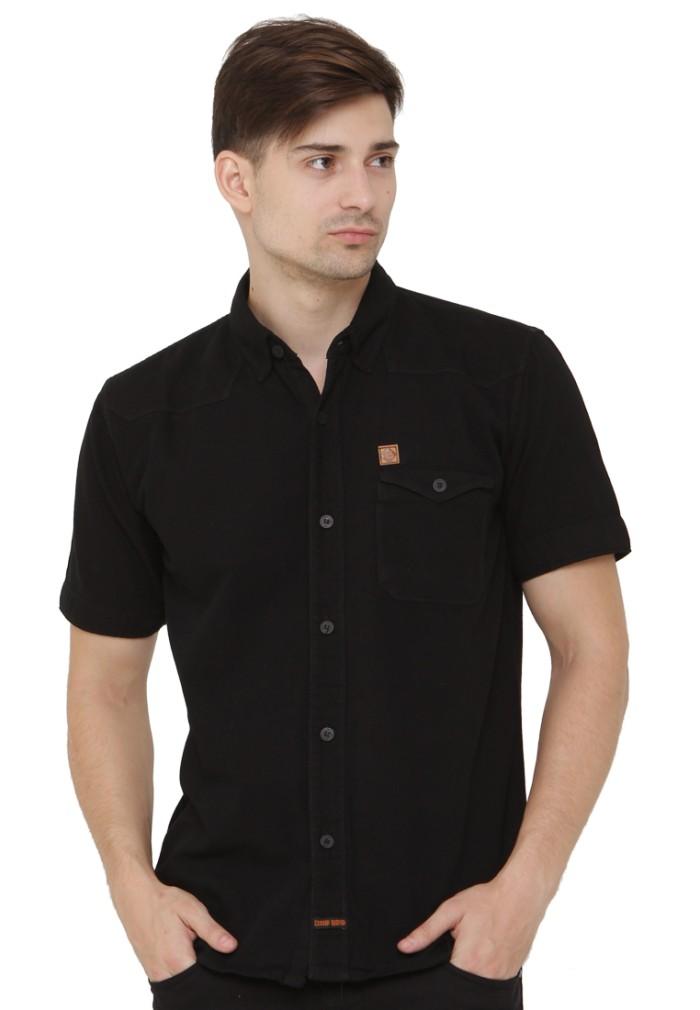 harga Kemeja pria jeans levis hitam tangan pendek distro c6 original elegan Tokopedia.com