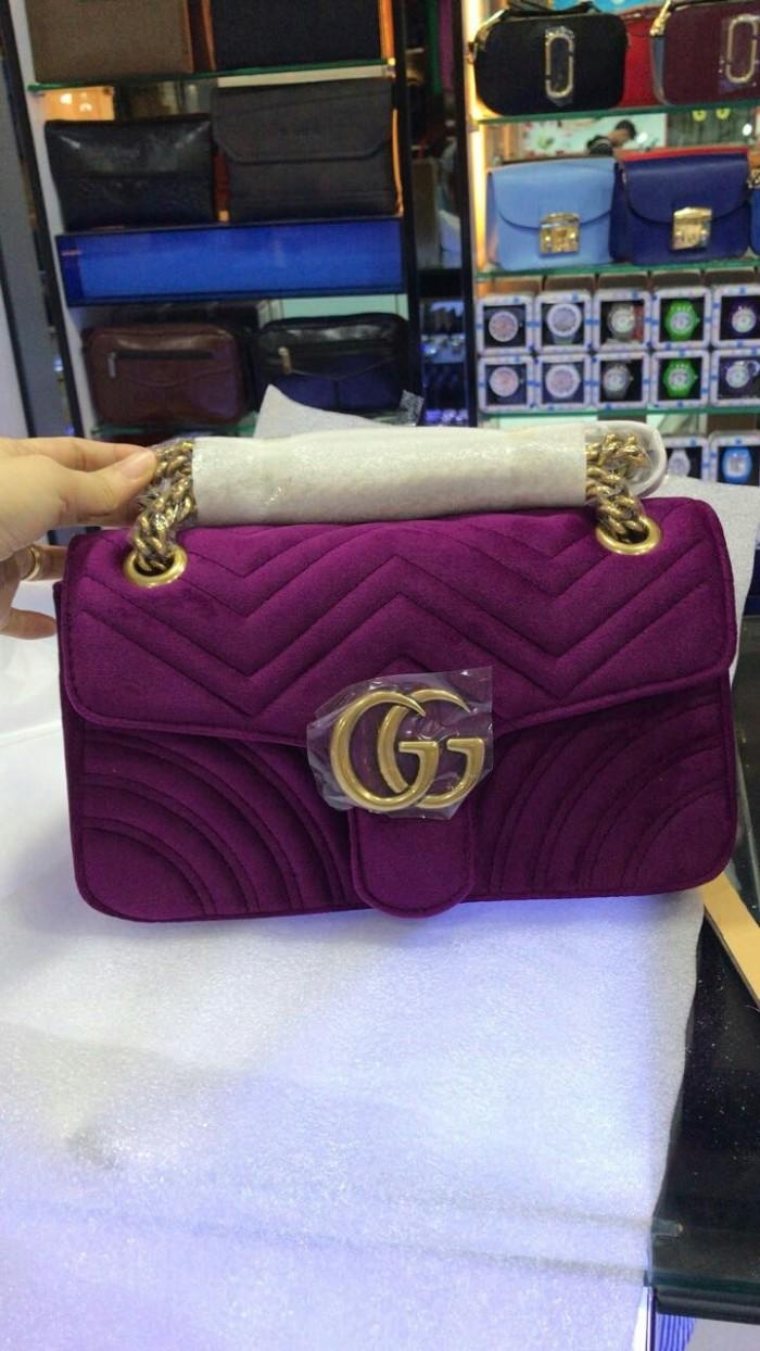 f92edc017763 Jual jual tas gucci gg marmont velvet shoulder super mirror quality ...