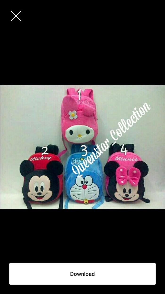 Jual Import Tas Backpack Mellody Mickey Doraemon Minnie Jakarta Barat Queenstar Collection