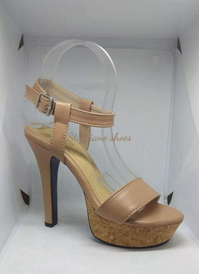 Sandal high heels pesta stanliano 982 nude