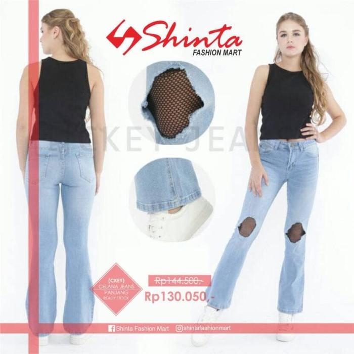 Celana Jeans Sobek Wanita Celana Panjang Jeans Wanita Termurah