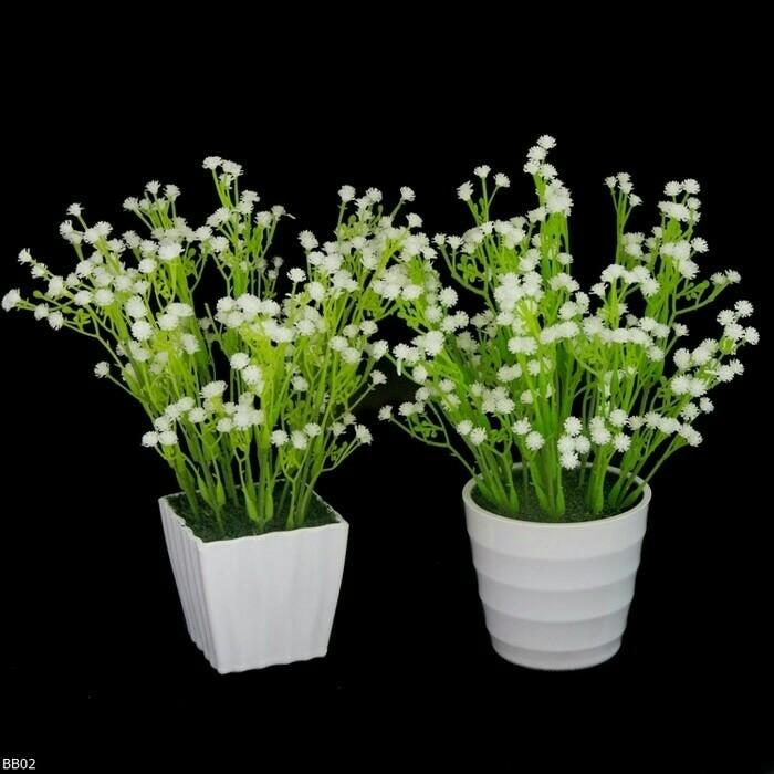 Jual Bunga Hias Vas Bunga Bunga Rumput Rumput Hias Bunga Baby Breath Pot Kota Bandung Anita Yunita Tokopedia