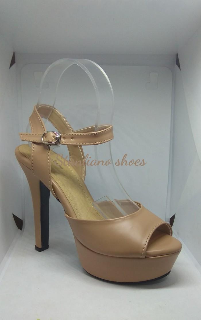 Sandal high heels stiletto stanliano 975 nude