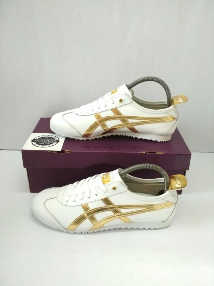 harga Sepatu asics tiger onitsuka mexico white gold bnib Tokopedia.com