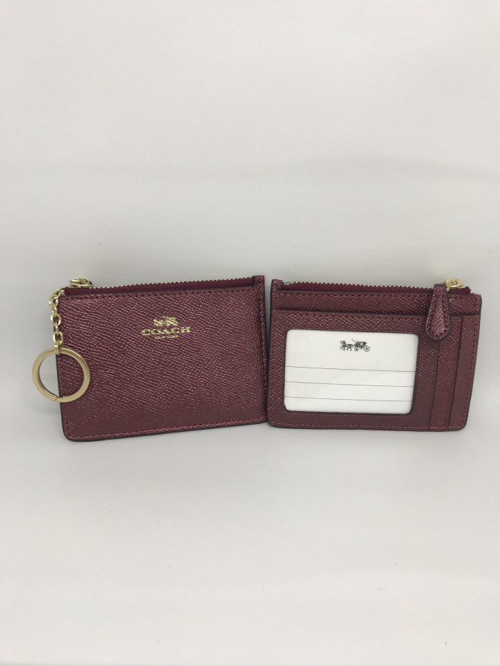 harga Coach skinny id card holder metallic cherry Tokopedia.com