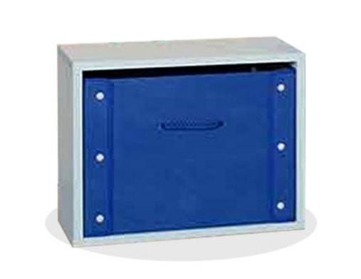the olive house lemari buku pelangi 1 susun - biru muda
