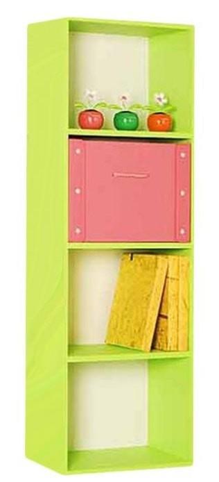 the olive house lemari buku pelangi 4t - hijau muda