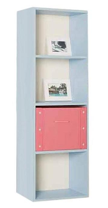the olive house lemari buku pelangi 4t - biru muda