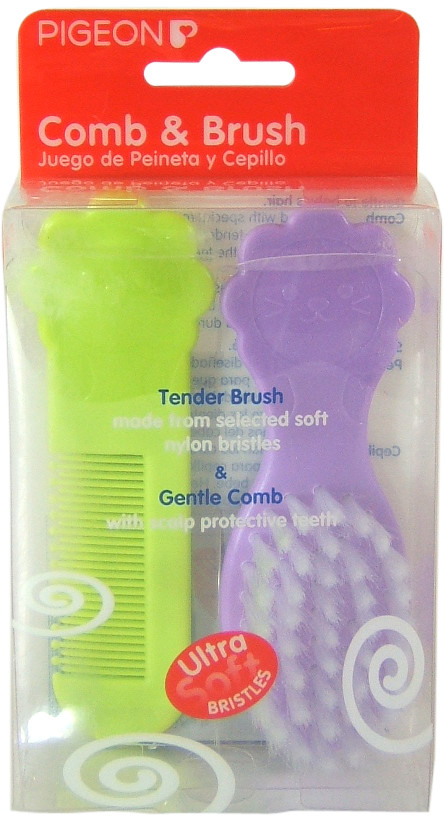 Pigeon - comb & brush purple green
