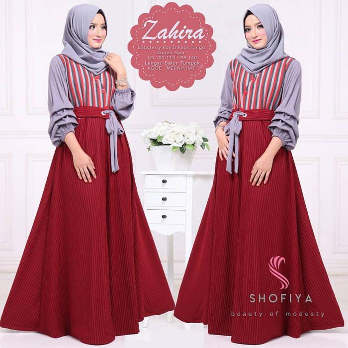 Jual Pakaian Murah Wanita   Zahira Dress   Grosir Baju Muslim Gamis ... 0a5588c45f