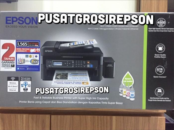 Jual PRINTER EPSON L565 (A4, color MFP, PSC + FAX + LAN + WiFi) - Kota  Tangerang - Epson Online Store | Tokopedia