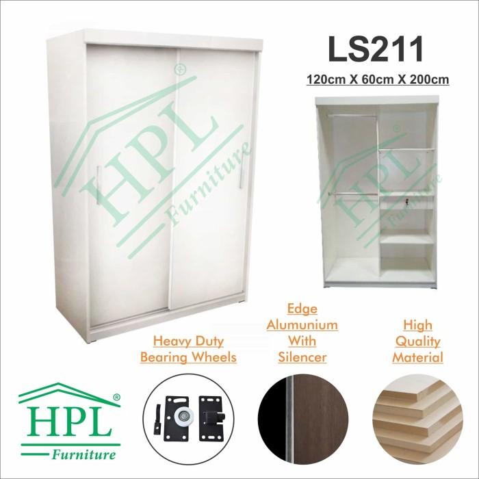 harga Lemari pakaian sliding door 2 pintu hpl - white glossy Tokopedia.com
