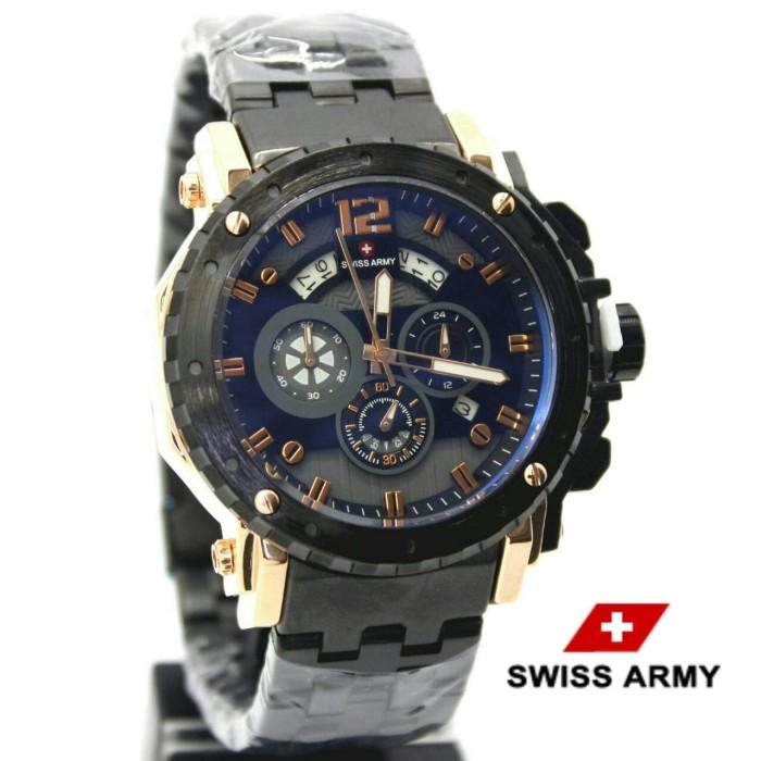 harga Jam tangan pria swiss army chrono active black rosegold Tokopedia.com