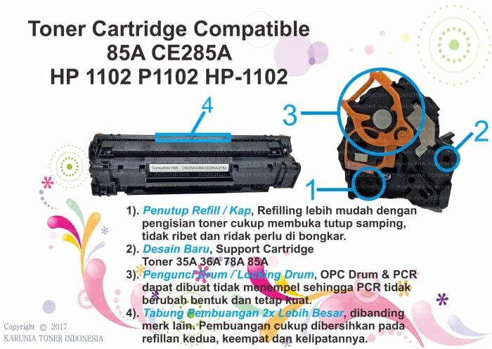 harga toner cartridge compatible 85a ce285a hp 1102 p1102 hp-1102 Tokopedia.com
