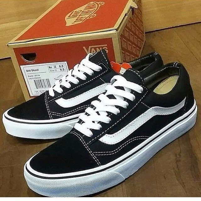 d30b301b769a20 Jual Sepatu Casual Vans Old Skool Black White Premium Quality ...