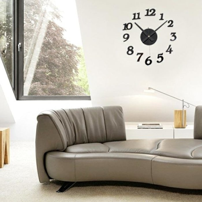 Diy Acrylic Wall Clock 30-50cm Diameter - 3d Jam Dinding Besar Giant 1812896e26