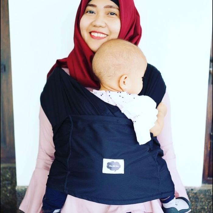 Jual Mamima Instant Baby Wrap Gendongan Bayi Geos Black Mamima