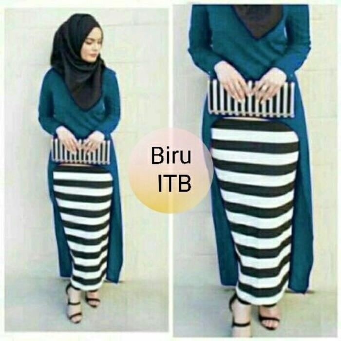 Jual Ta 00013 Gina Set Busana Muslim Gamis Hijab Baju Remaja Trendy Murah Kota Bandung Gamis Store Collection Tokopedia