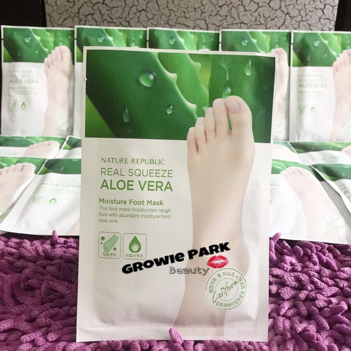 harga Nature republic real squeeze aloe vera moisture foot mask Tokopedia.com