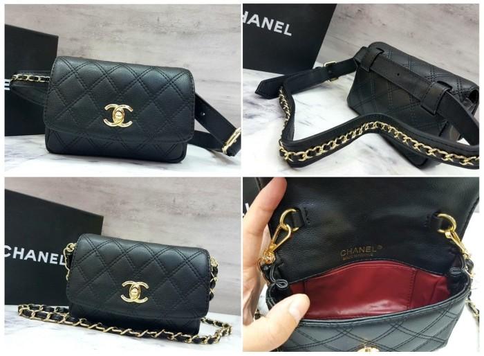 Jual Chanel Waist Belt Bag Lambskin   Tas Pinggang Kecil   Selempang ... ecb7b1f035