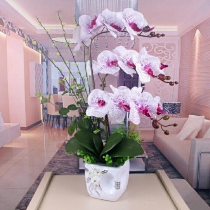 Jual Rangkaian Bunga Anggrek Latex Import - White Purple - Felliz ... 9fbf419f68