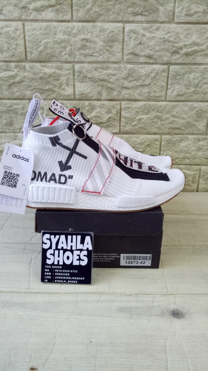8dde24df7 Jual ADIDAS NMD CS2 OFF WHITE MIRROR QUALITY - Syahla Shoes