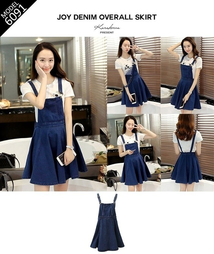 Jual Import Korea Overall Dress Jumpsuit Rok Baju Kodok Jamsuit