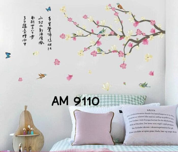 jual wall sticker uk.60x90 wall stiker dinding crayon sakura hiasan