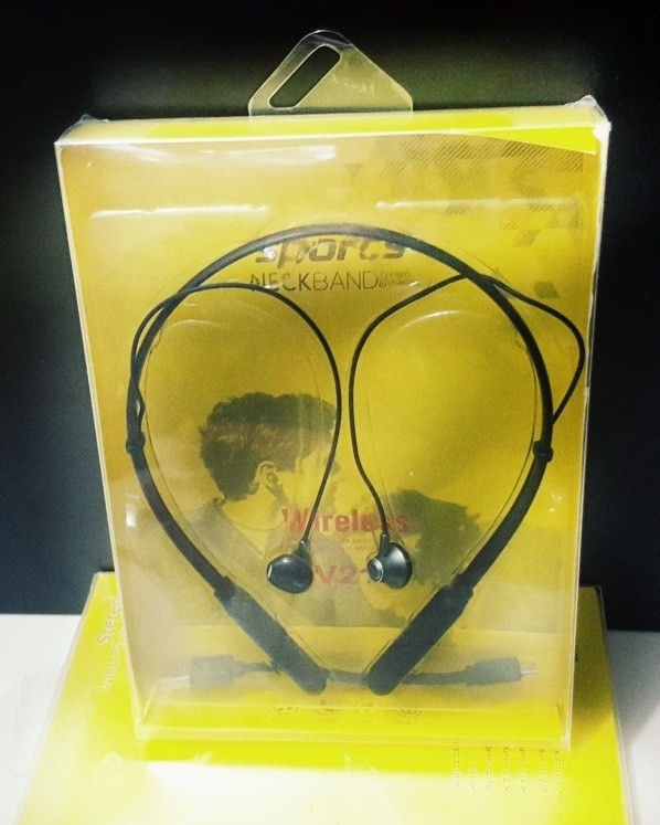 harga Earphone bluetooth headseat wireless neckband v21 Tokopedia.com