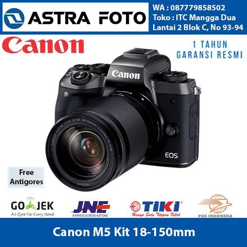 harga Canon eos m5 kit 18-150 64gb extreme protasantigores Tokopedia.com