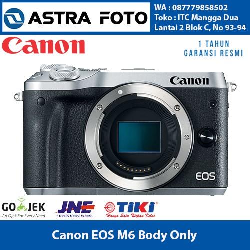 harga Canon eos m6 / canon m6 body only garansi resmi 1 tahun Tokopedia.com