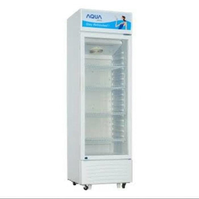 harga Showcase kulkas minuman aqua aqb 230 promo diskon Tokopedia.com