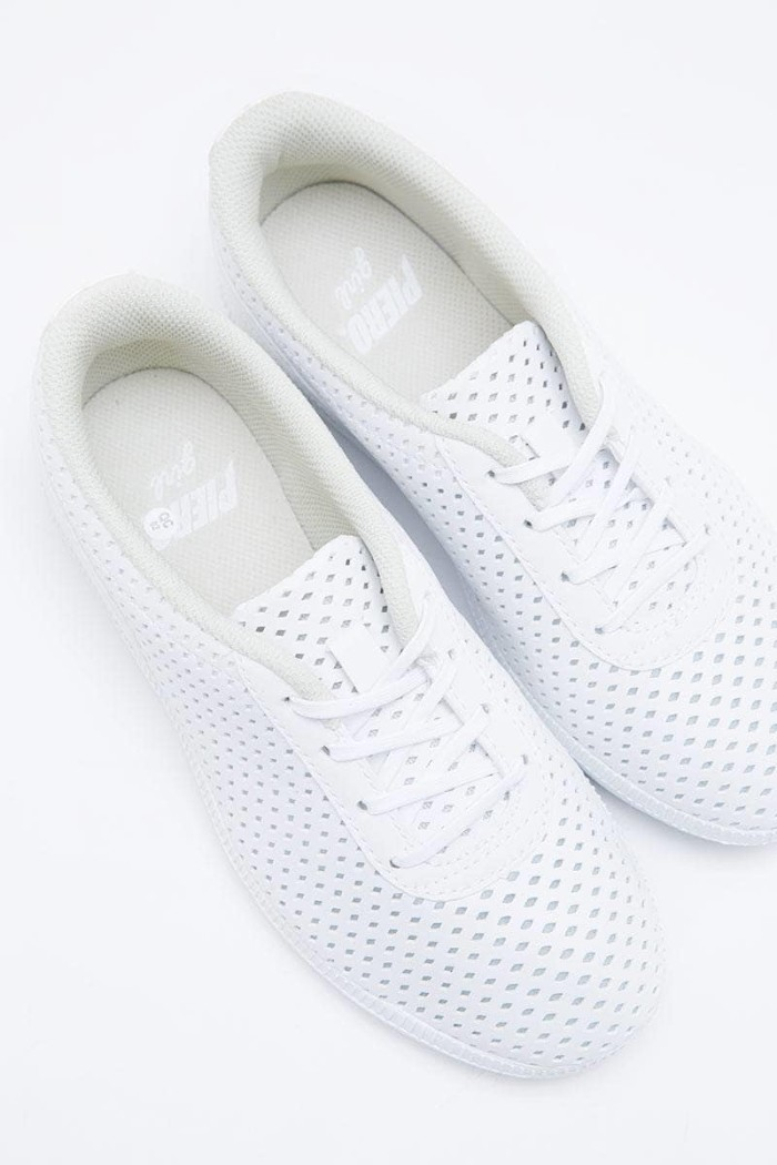 Sepatu PIERO - Women P10513 Jane White Grey