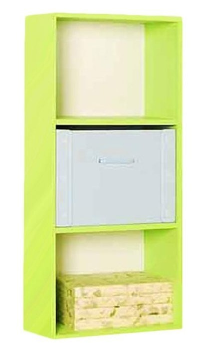 the olive house lemari buku pelangi 3t - hijau muda