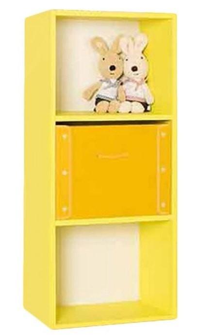 the olive house lemari buku pelangi 3t - kuning