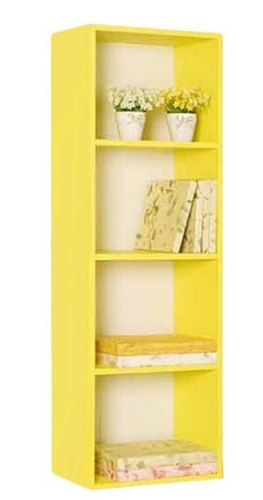 the olive house lemari buku pelangi 4t - kuning