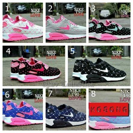 Jual Sepatu Casual Sport Nike Air Max T90 Love Anak Women Wanita ... 47af20dc14