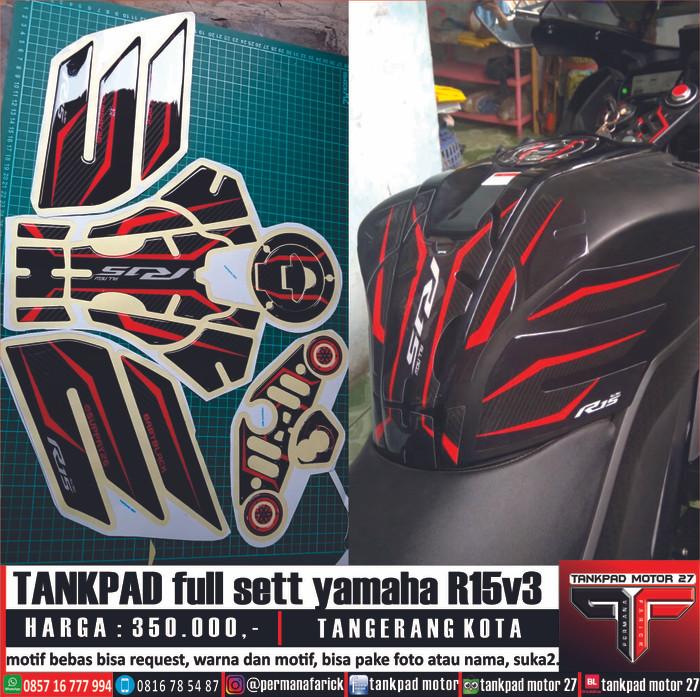 Foto Produk tankpad full new R15 V3 vva dari tankpad motor 27