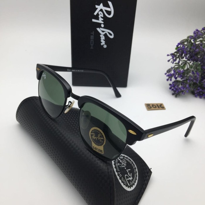 harga Kacamata rayban clubmaster kaca sunglasses pria wanita hitam silver Tokopedia.com