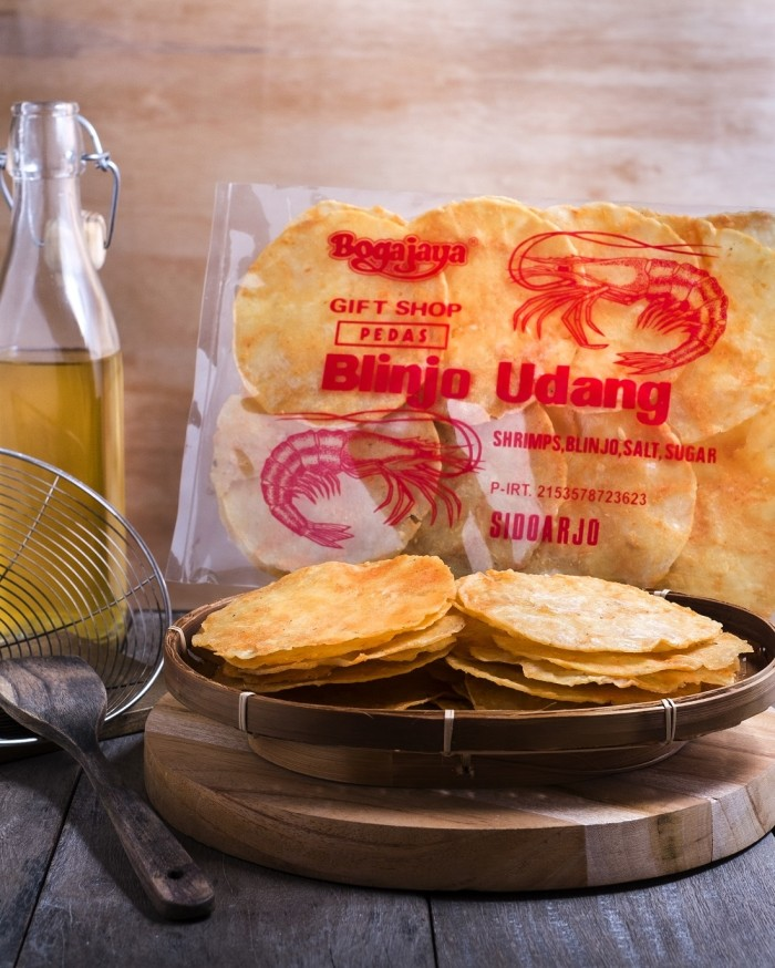 Jual blinjo udang khas surabaya manis pedas /makanan jawa timur 200gr