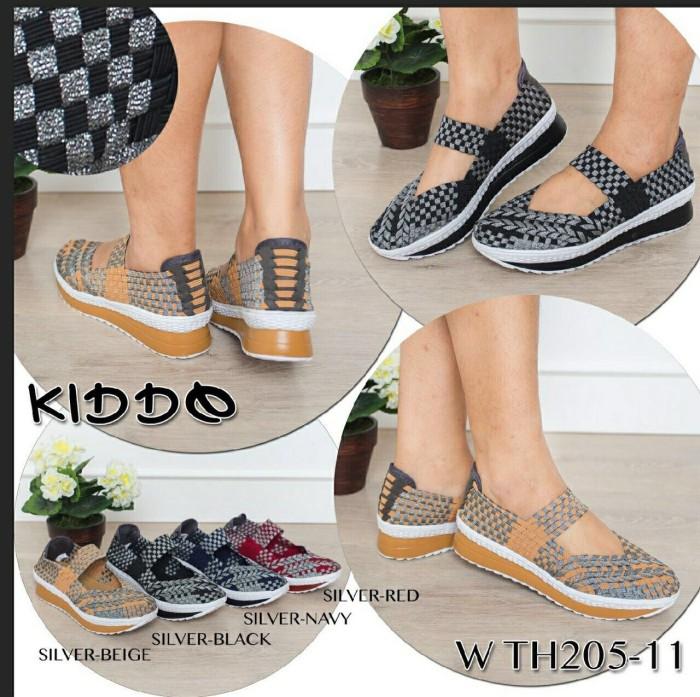 harga Sepatu wedges rajut anyaman anyam kiddo type 205-11a Tokopedia.com