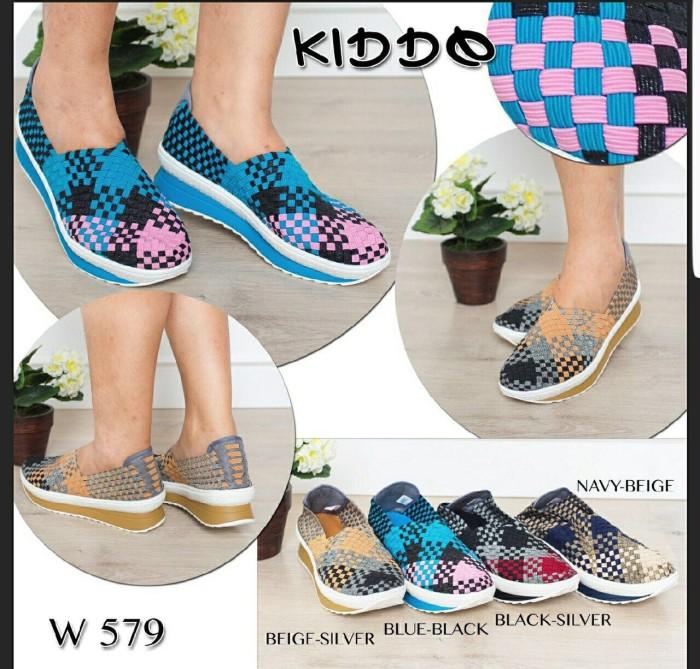 harga Sepatu wedges rajut anyaman anyam kiddo type 579 Tokopedia.com