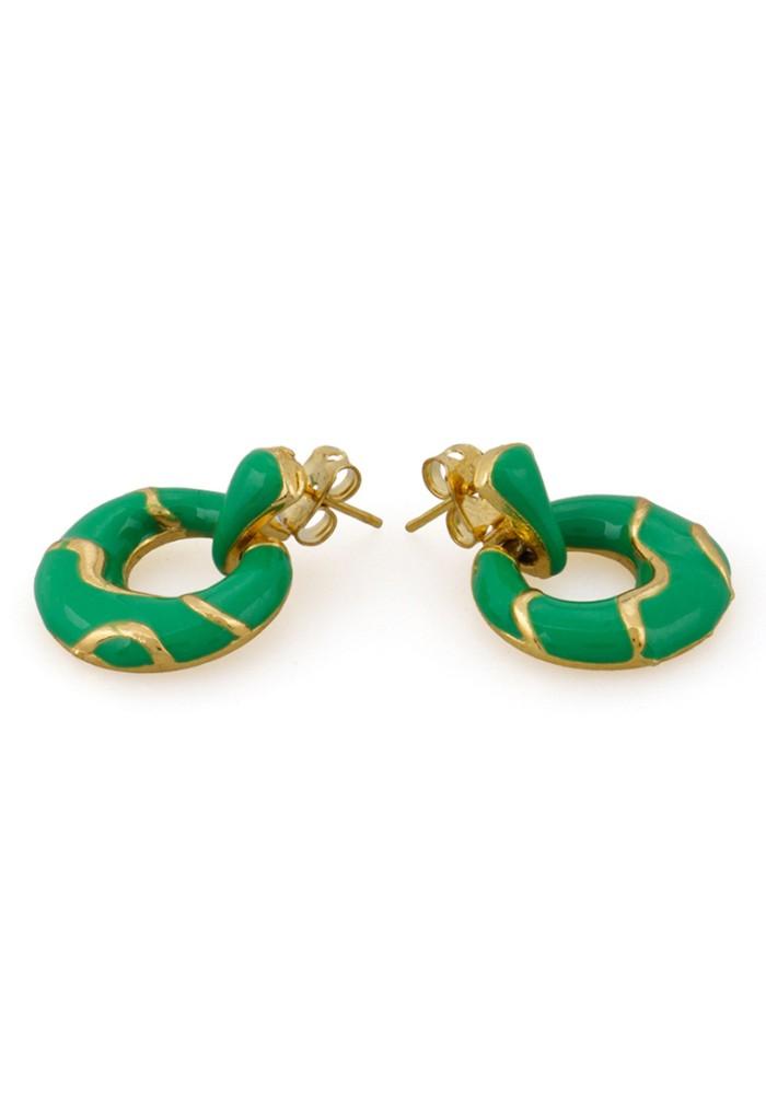 Jual 1901 Jewelry Anting Green Circle Harga Promo Terbaru