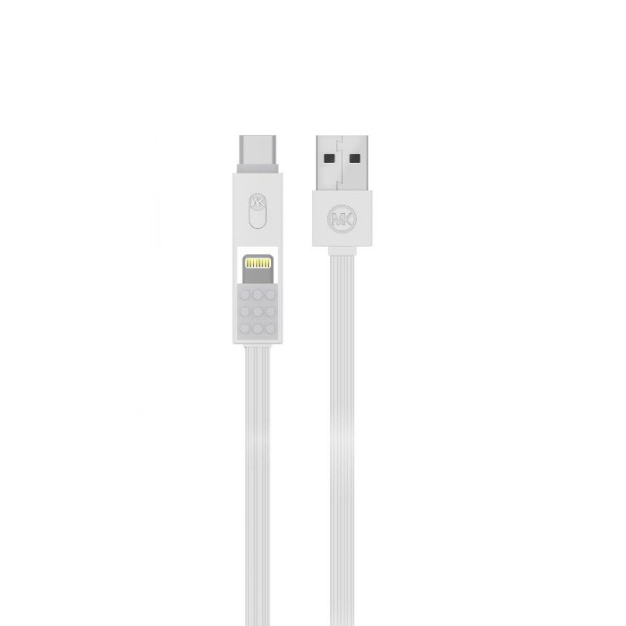 harga Wk design parker data cable wdc012 3in1 micro lightning type-c white Tokopedia.com