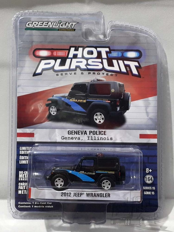 $10225||Greenlight 2012 Jeep Wrangler||Hot Pursuit Geneva Police