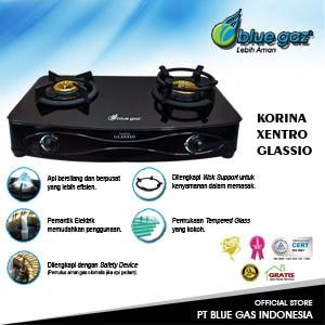 harga Kompor gas blue gaz dua tungku korina xentro glassio - bluegaz Tokopedia.com