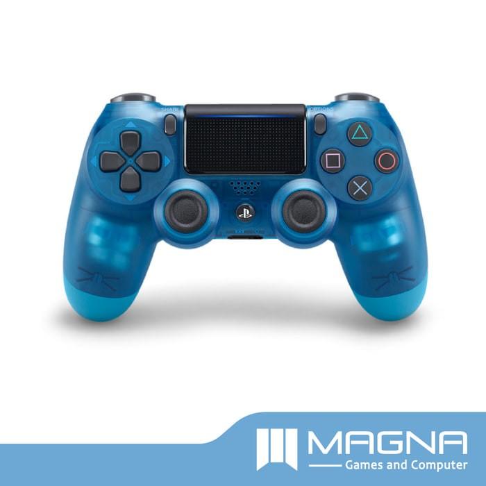 jual new dualshock 4 ps4 controller blue crystal awan hisyam