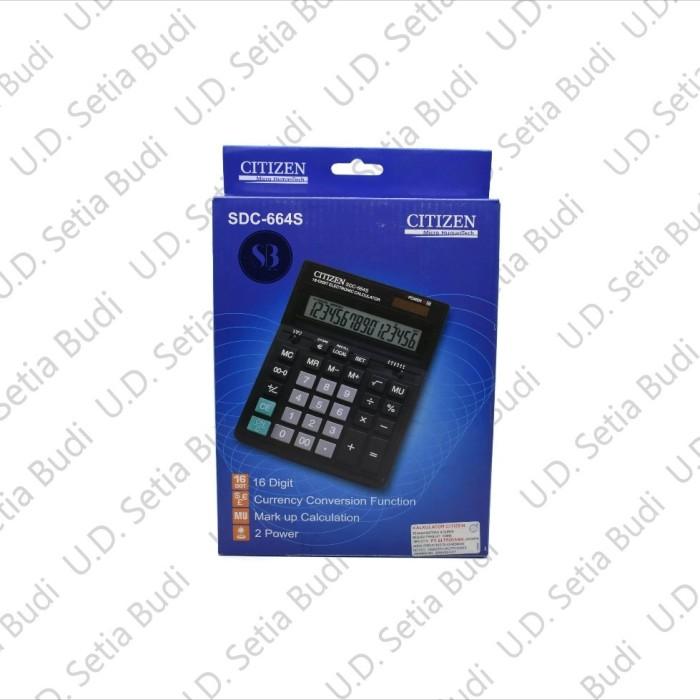 Kalkulator Citizen SDC-664S Asli dan Bergaransi .